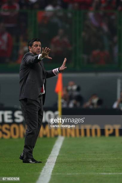 Benfica's coach Rui Vitoria from Portugal during the Sporting CP v SL Benfica Portuguese Primeira Liga match at Estadio Jose Alvalade on April 22...