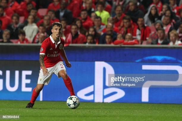 Benfica's defender Alejandro Grimaldo from Spain during SL Benfica v Manchester United UEFA Champions League round three match at Estadio da Luz on...