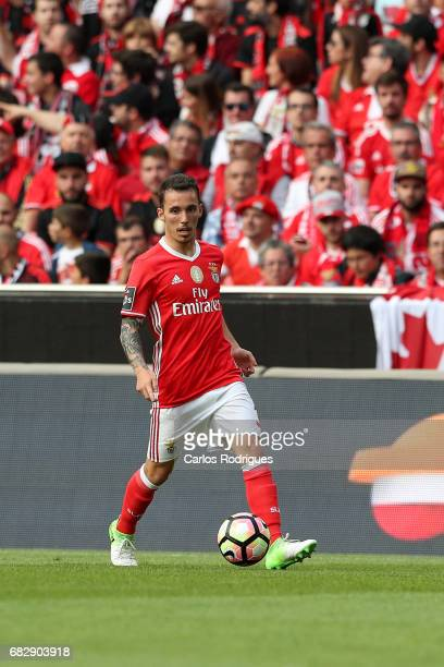 Benfica's defender Alejandro Grimaldo from Spain during the match between SL Benfica and Vitoria SC for the Portuguese Primeira Liga at Estadio da...