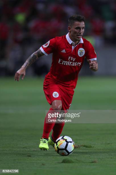 Benfica's defender Alejandro Grimaldo from Spain during the match between SL Benfica and VSC Guimaraes at Estadio Municipal de Aveiro on August 05...
