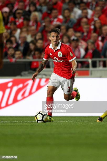 Benfica's defender Alejandro Grimaldo from Spain during the match between SL Benfica and FC Paco de Ferreira for the round seven of the Portuguese...