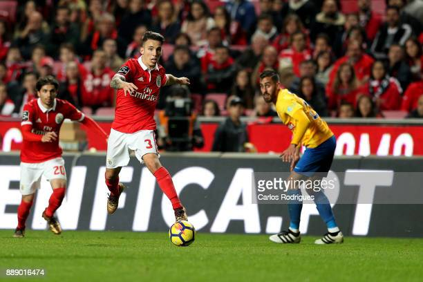 Benfica's defender Alejandro Grimaldo from Spain during the match between SL Benfica and Estoril Praia SAD for the Portuguese Primeira Liga at...