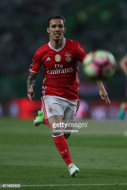 Benfica's defender Alejandro Grimaldo from Spain during the Sporting CP v SL Benfica Portuguese Primeira Liga match at Estadio Jose Alvalade on April...