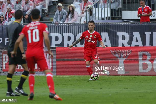 Benficas defender Alex Grimaldo from Spain during the match between SL Benfica and Vitoria SC for the Portuguese Cup Final at Estadio Nacional on May...