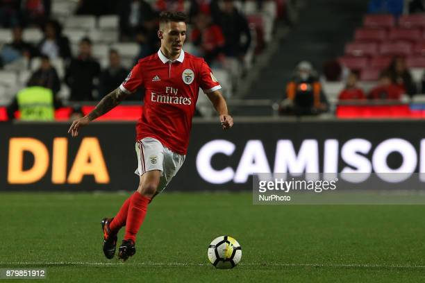 Benficas defender Alex Grimaldo from Spain during the Premier League 2017/18 match between SL Benfica and FC Vitoria Setubal at Luz Stadium in Lisbon...