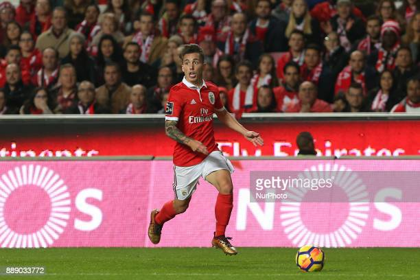 Benficas defender Alex Grimaldo from Spain during the Premier League 2017/18 match between SL Benfica v GD Estoril Praia at Luz Stadium in Lisbon on...