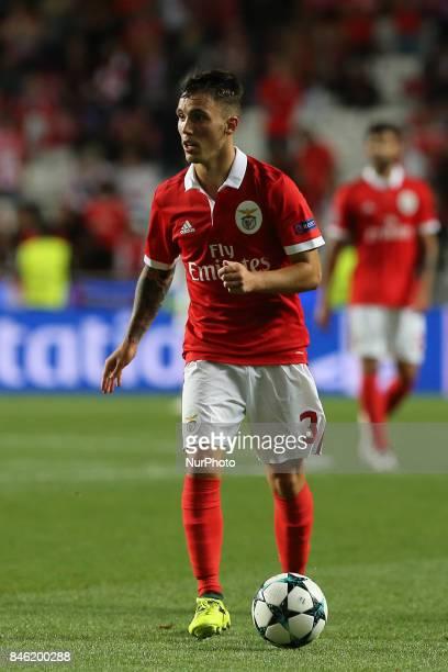 Benficas defender Alex Grimaldo from Spain during the SL Benfica v CSKA Moskva UEFA Champions League round one match at Estadio da Luz on September...
