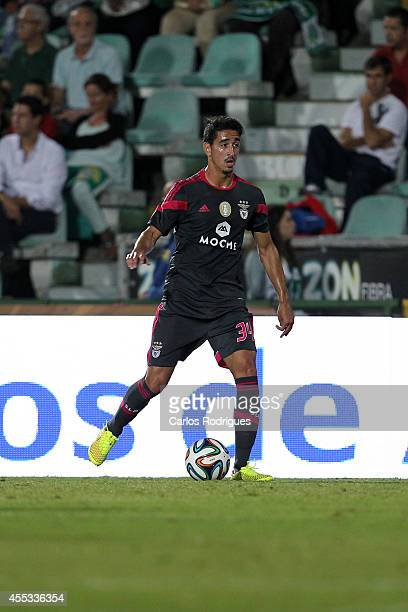 Benfica's defender Andre Almeida during the Portuguese League football match between Vitoria Setubal and SL Benfica at Estadio do Bonfim on September...