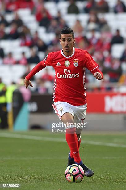 Benfica's defender Andre Almeida in action during the Portuguese League football match SL Benfica vs Tondela at the Luz stadium in Lisbon on January...