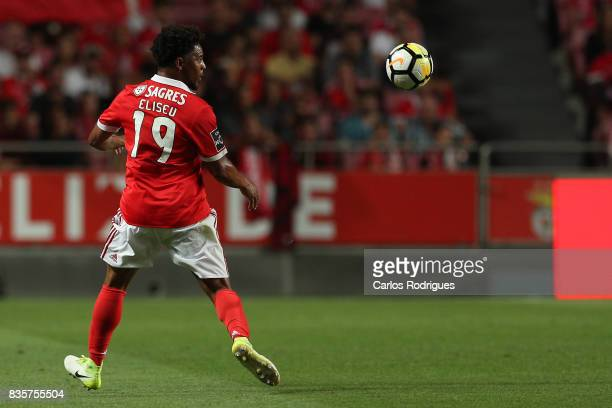 Benfica's defender Eliseu from Portugal during the match between SL Benfica and CF Belenenses for the third round of the Portuguese Primeira Liga at...
