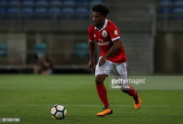 Benfica's defender Eliseu from Portugal in action during the Algarve Cup match between SL Benfica and Hull City at Estadio Algarve on July 22 2017 in...