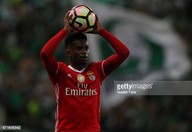 BenficaÕs defender from Portugal Nelson Semedo in action during the Primeira Liga match between Sporting CP and SL Benfica at Estadio Jose Alvalade...