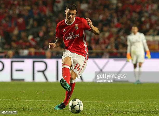 Benfica's defender from Sweden Victor Lindelof in action during the UEFA Champions League match between SL Benfica and FC Dynamo Kyiv at Estadio da...