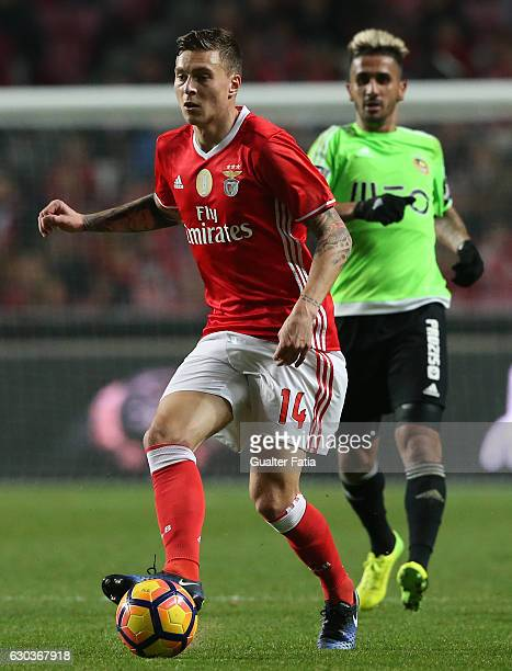 Benfica's defender from Sweden Victor Lindelof in action during the Primeira Liga match between SL Benfica and Rio Ave FC at Estadio da Luz on...