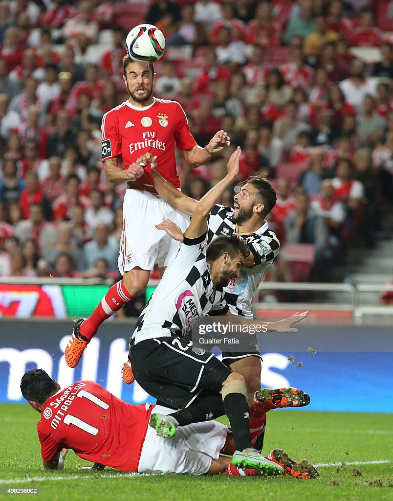 SL Benfica's defender Jardel in action during the Primeira Liga match between SL Benfica and Boavista at Estadio da Luz on November 8, 2015 in Lisbon, Portugal.