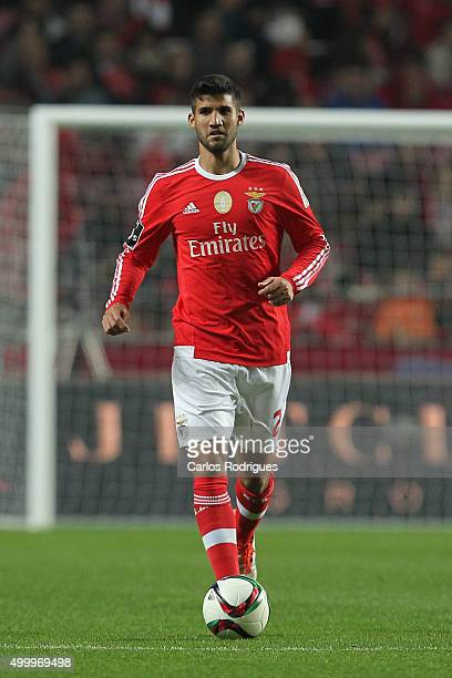 Benfica's defender Lisandro Lopez during the match between SL Benfica and Academica Coimbra FC at Estadio da Luz on December 4 2015 in Lisbon Portugal