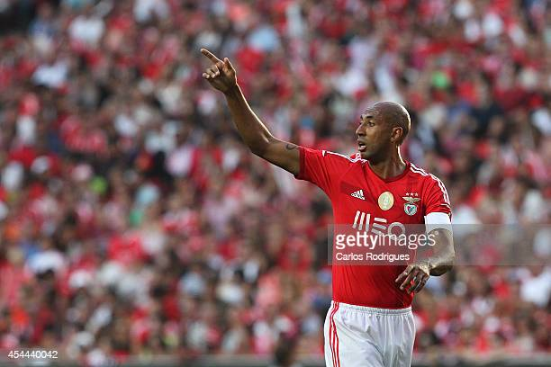 Benfica's defender Luisao during the Primeira Liga match between SL Benfica and Sporting CP at Estadio da Luz on August 31 2014 in Lisbon Portugal