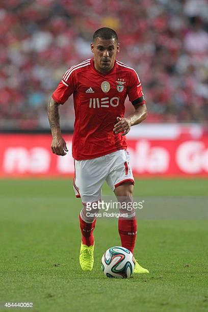 Benfica's defender Maxi Pereira during the Primeira Liga match between SL Benfica and Sporting CP at Estadio da Luz on August 31 2014 in Lisbon...