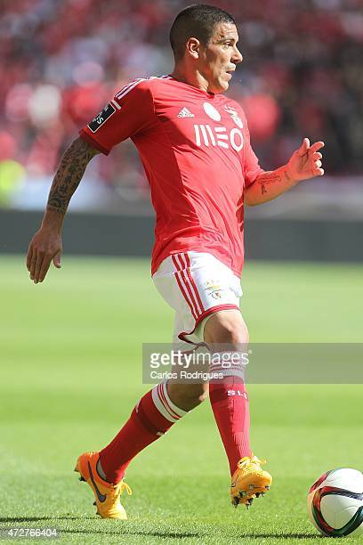Benfica's defender Maxi Pereira during the Primeira Liga match between SL Benfica and Penafiel FC at Estadio da Luz on May 9 2015 in Lisbon Portugal