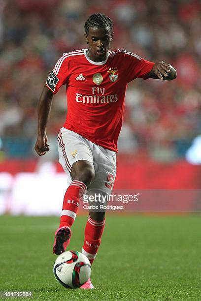 Benfica's defender Nelson Semedo during the match between SL Benfica and Estoril Praia at Estadio da Luz on August 16 2015 in Lisbon Portugal