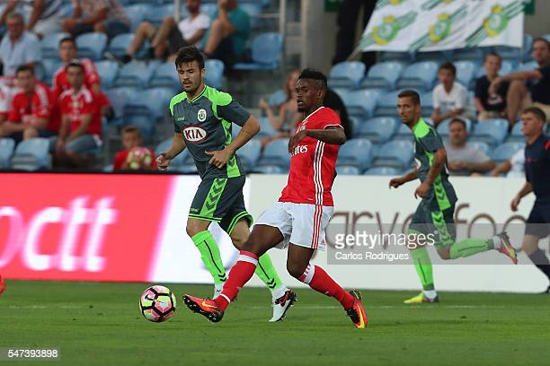 Benfica's defender Nelson Semedo during the Pre Season match between SL Benfica and Vitoria Setubal at Estadio do Algarve on July 14 2016 in Faro...