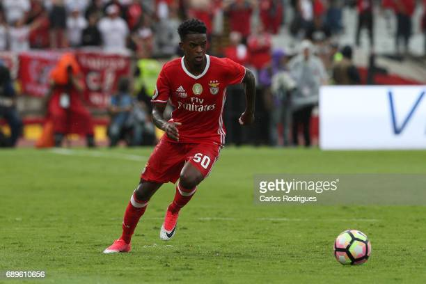 Benfica's defender Nelson Semedo from Portugal during the match between SL Benfica and Vitoria SC for the Portuguese Cup Final at Estadio Nacional on...
