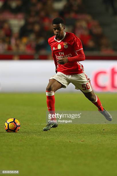 Benfica's defender Nelson Semedo from Portugal during the SL Benfica v FC Pacos de Ferreira Portuguese Cup at Estadio da Luz on December 29 2016 in...