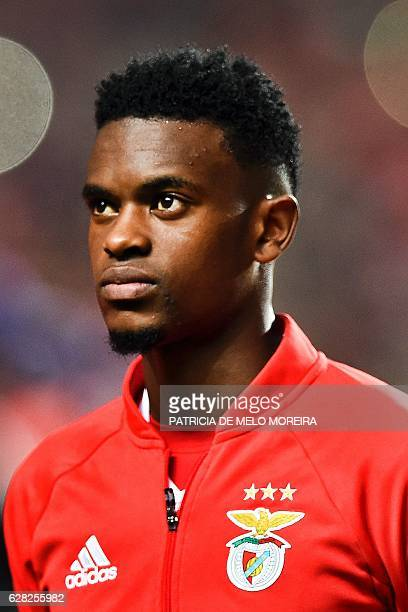 Benfica's defender Nelson Semedo poses before the UEFA Champions League Group B football match SL Benfica vs SSC Napoli at the Luz stadium in Lisbon...