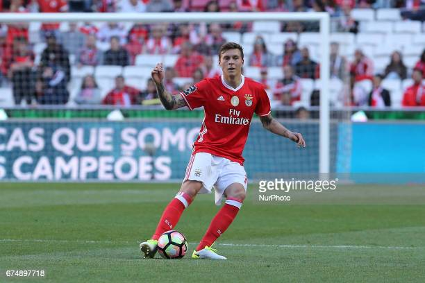 Benficas defender Victor Lindelof from Sweden during the Premier League 2016/17 match between SL Benfica v Estoril Praia at Luz Stadium in Lisbon on...