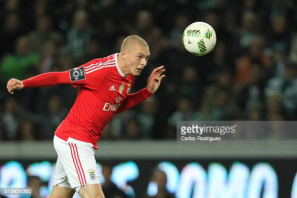 Benfica's defender Victor NilssonLindelof during the match between Sporting CP and SL Benfica for the Portuguese Primeira Liga at Jose Alvalade...