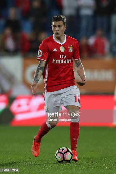 Benfica's defender Victor NilssonLindelof from Sweden during the match between Estoril Praia SAD and SL Benfica for the Portuguese Cup at Estadio...