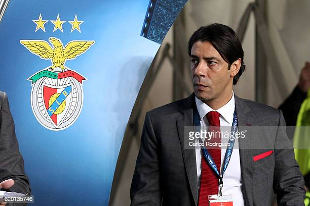 Benfica's dirigent Rui Costa during SL Benfica v FC Dynamo Kyiv UEFA Champions League round four match at Estadio da Luz on November 01 2016 in...