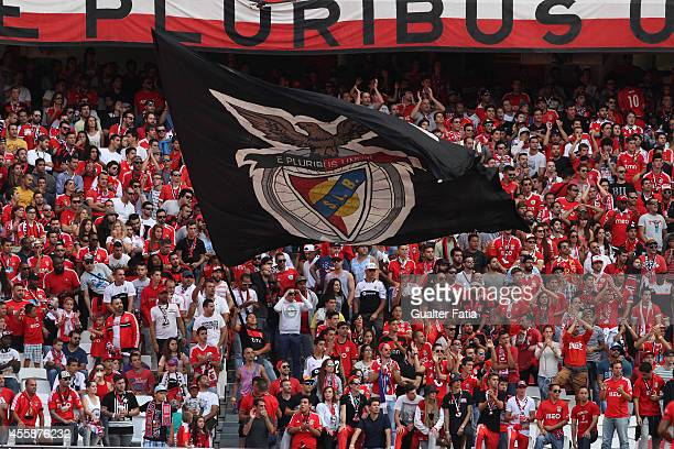 Benfica's fans during the Portuguese First League match SL Benfica v Moreirense FC at Estadio da Luz on September 21 2014 in Lisbon Portugal
