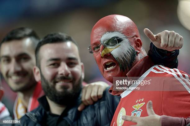 Benfica's fans support their team during the UEFA Champions League Group C soccer match between Benfica and Galatasaray at Luz Stadium in Lisbon...