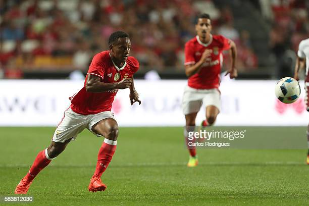 Benfica's forward Andre Carrillo during the match between SL Benfica and Torino for the Eusebio Cup at Estadio da Luz on July 27 2016 in Lisbon...