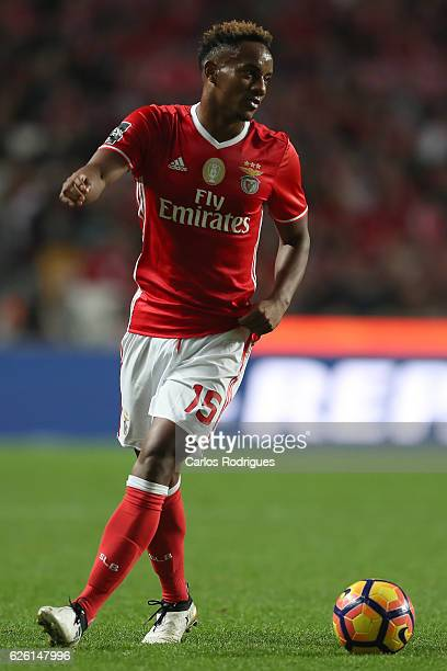Benfica's forward Andre Carrillo from Paraguay during the match between SL Benfica v Moreirense FC Primeira Liga at Estadio da Luz on November 27...