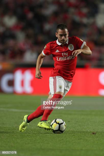 Benfica's forward Andrija Zivkovic from Serbia during the match between SL Benfica and SC Braga for the Portuguese Taca da Liga at Estadio da Luz on...
