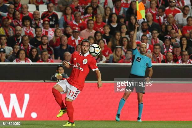 Benficas forward Andrija Zivkovic from Serbia during the Premier League 2017/18 match between SL Benfica v Portimonense SC at Luz Stadium in Lisbon...