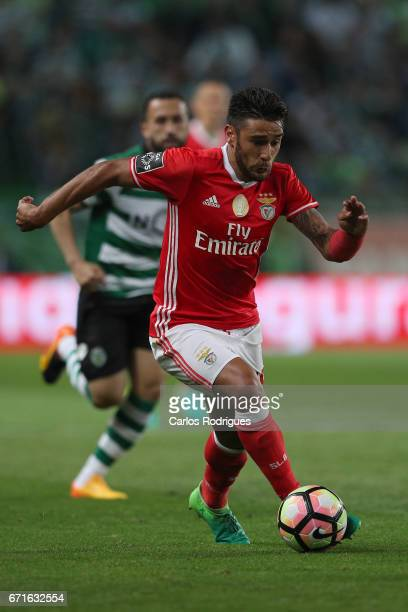 Benfica's forward Eduardo Salvio from Argentina during the Sporting CP v SL Benfica Portuguese Primeira Liga match at Estadio Jose Alvalade on April...