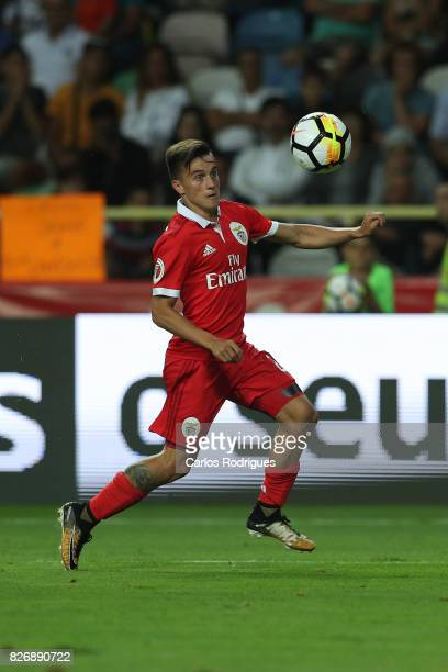 Benfica's forward Franco Cervi from Argentina during the match between SL Benfica and VSC Guimaraes at Estadio Municipal de Aveiro on August 05 2017...
