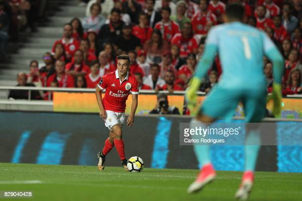 Benfica's forward Franco Cervi from Argentina during the match between SL Benfica and SC Braga for the fruit round of the Portuguese Primeira Liga at...