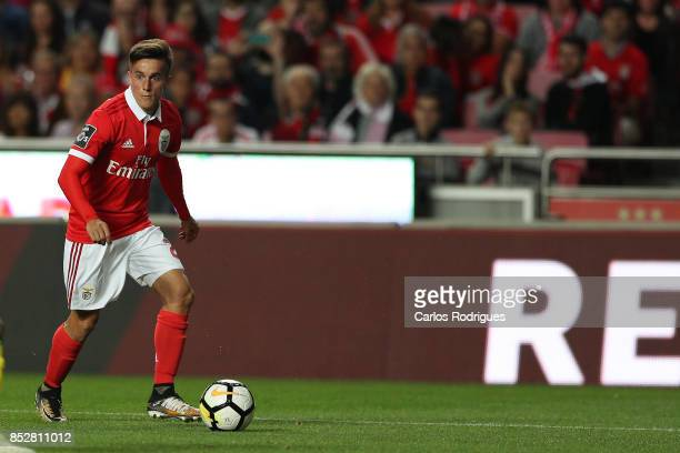 Benfica's forward Franco Cervi from Argentina during the match between SL Benfica and FC Paco de Ferreira for the round seven of the Portuguese...