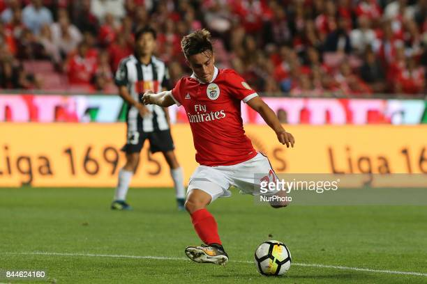 Benficas forward Franco Cervi from Argentina during the Premier League 2017/18 match between SL Benfica v Portimonense SC at Luz Stadium in Lisbon on...