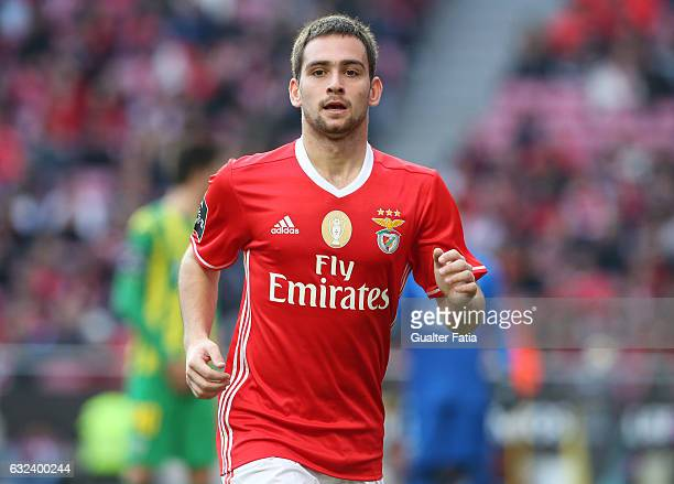 Benfica's forward from Serbia Andrija Zivkovic during the Primeira Liga match between SL Benfica and CD Tondela at Estadio da Luz on January 22 2017...