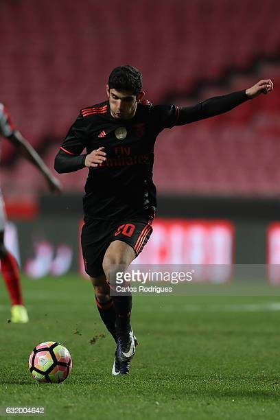 Benfica's forward Goncalo Guedes from Portugal during the match between SL Benfica and Leixoes for the Portuguese cup at Estadio da Luz on January 18...