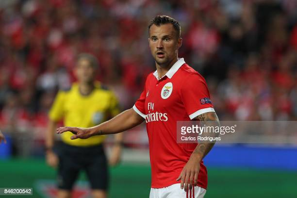 Benfica's forward Haris Seferovic from Switzerland during SL Benfica v CSKA Moskva UEFA Champions League round one match at Estadio da Luz on...