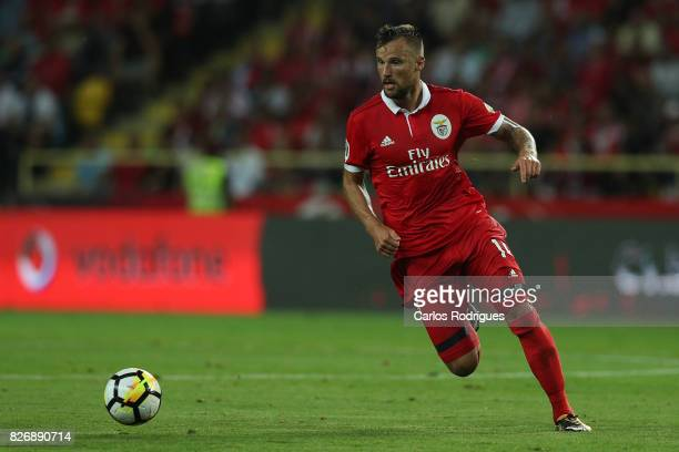 Benfica's forward Haris Seferovic from Switzerland during the match between SL Benfica and VSC Guimaraes at Estadio Municipal de Aveiro on August 05...