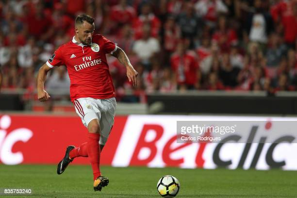 Benfica's forward Haris Seferovic from Switzerland during the match between SL Benfica and CF Belenenses for the third round of the Portuguese...