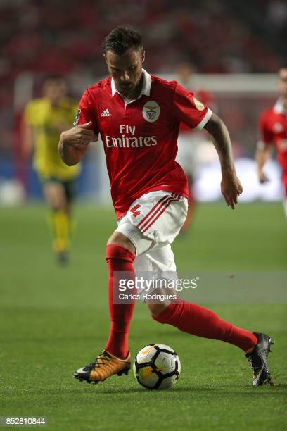 Benfica's forward Haris Seferovic from Switzerland during the match between SL Benfica and FC Paco de Ferreira for the round seven of the Portuguese...