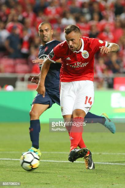 Benficas forward Haris Seferovic from Switzerland during the Premier League 2017/18 match between SL Benfica v CF Belenenses at Luz Stadium in Lisbon...
